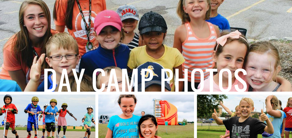 collage of photos for day camp