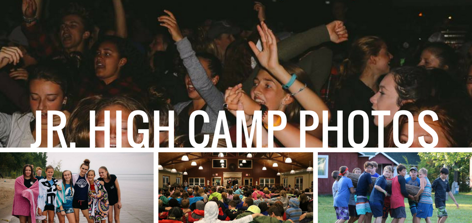 collage of photos for jr. high camp