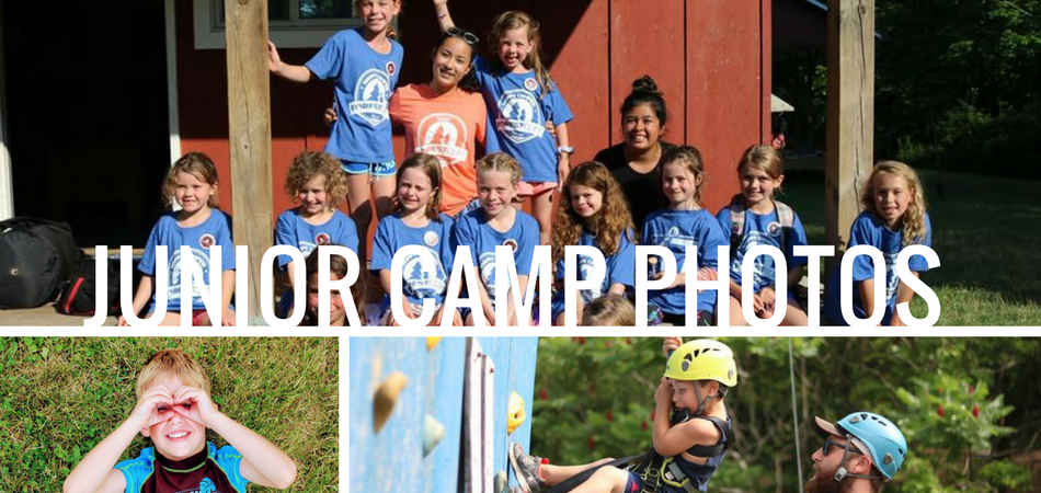 collage of photos for junior camp