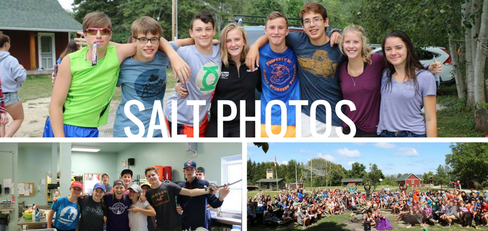 collage of photos for salt camp