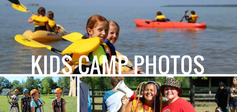 collage of photos for kids camp